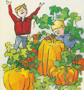 Mike And Nick And The Pumpkin Patch